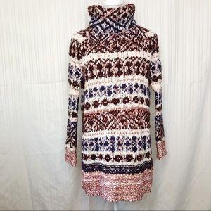 Free people fair isle sweater size ex S